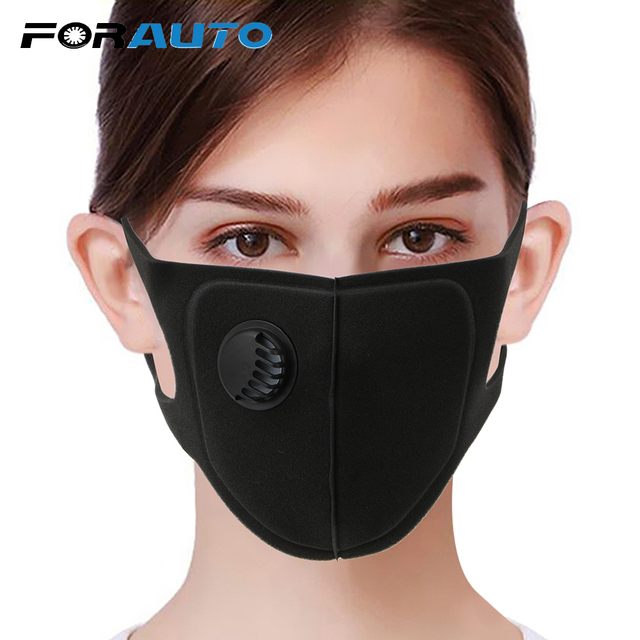FORAUTO Sport Face Mask With Activated Carbon Pm 2.5 Anti-pollution Running Cycling Mask Motocycle Sponge Masks Reusable