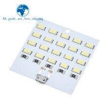 TZT-panel de iluminación LED de 5730 smd, 5V, ~ 470mA 430mA, blanco, micro Usb 5730, luz móvil USB, luz de emergencia nocturna