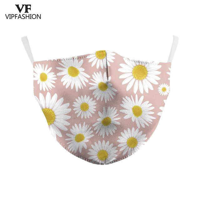 VIP FASHAION Adults Anti-Dust Face Mouth PM2.5 Breathable Washable Reusable Protective 3D Printed Face Mask 5