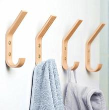 Modern Solid Wooden Wall Hook Coat Hangers Hat Double Wood Hooks / Creative Decorative