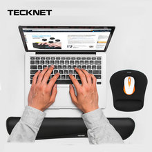 TeckNet Keyboard Wrist Rest Pad Mouse Wrist Rest Pad Ergonomic Memory Foam Support Comfort Mouse Pad For Office Computer Laptop fanshu ergonomic wrist pad support mouse pad memory foam pillow rest cushion desk mat for office computer laptop mac pain relief