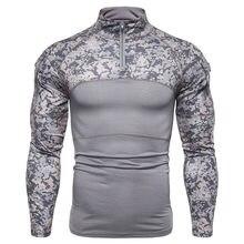 Мужская камуфляжная Тактическая Военная одежда боевая рубашка