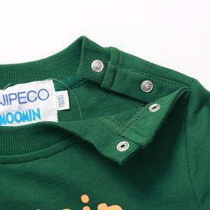 Image 4 - Moomin spring summer long sleeve thick tshirt cartoon Chrismas Finland cotton tshirt green o neck