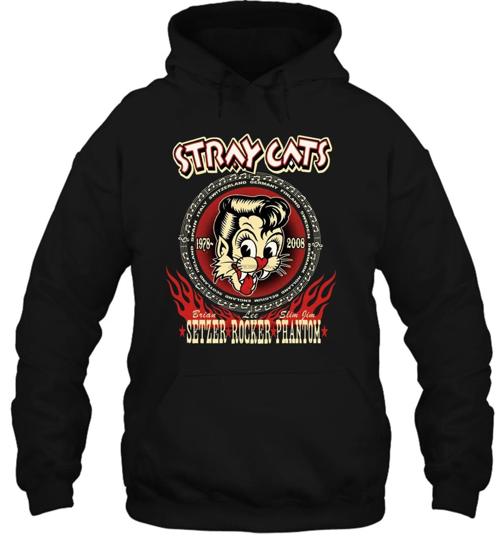 Stray Cats Brian Rocker Slim Jim Phantom Graphic Novelty Streetwear Men Women Hoodies Sweatshirts