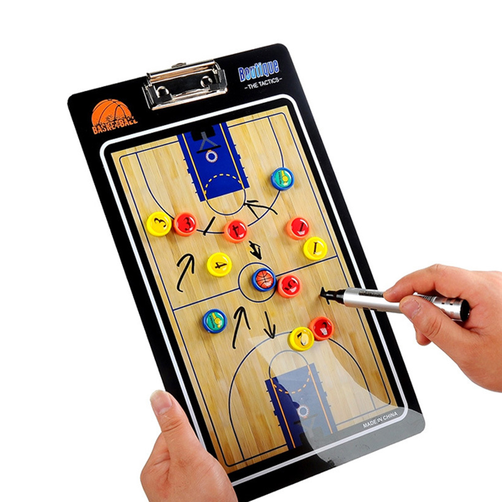 Basketball Supplies Colorful Training Tactical Board Wear Resistant Lightweight Portable Coaching Magnetic Professional Smooth