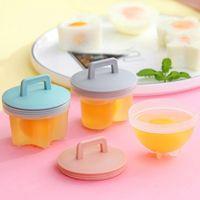 4pcs/set Cute Egg Poacher Plastic Egg Boiler Kitchen Egg Cooker Tools Egg Mold Form Maker