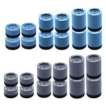 Tapis antidérapant Anti-vibrations pour Machine à laver, 4 pièces, pour réfrigérateur et sèche-linge