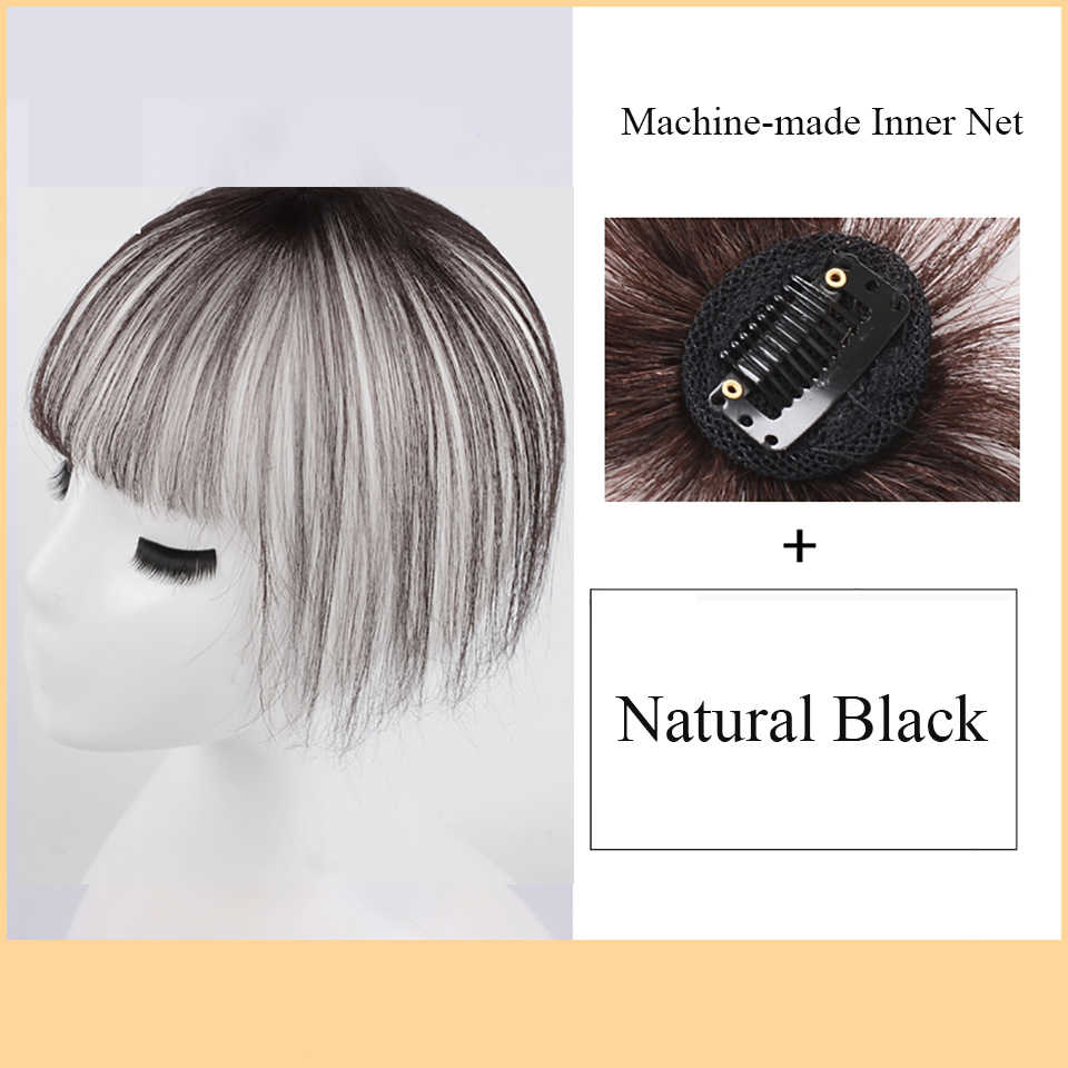 """Allaosify 11 """"синтетический зажим для парика клип в одной части прямой Топпер прическа с челкой клип в наращивание волос для женщин"""