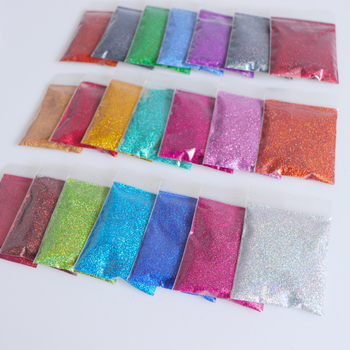 Rikonka 21PCS Holographic Nail Glitter Powder Shining Sugar 10g/bag Nail Glitter Hot Sale Dust Powder For Nail Art Decorations 1