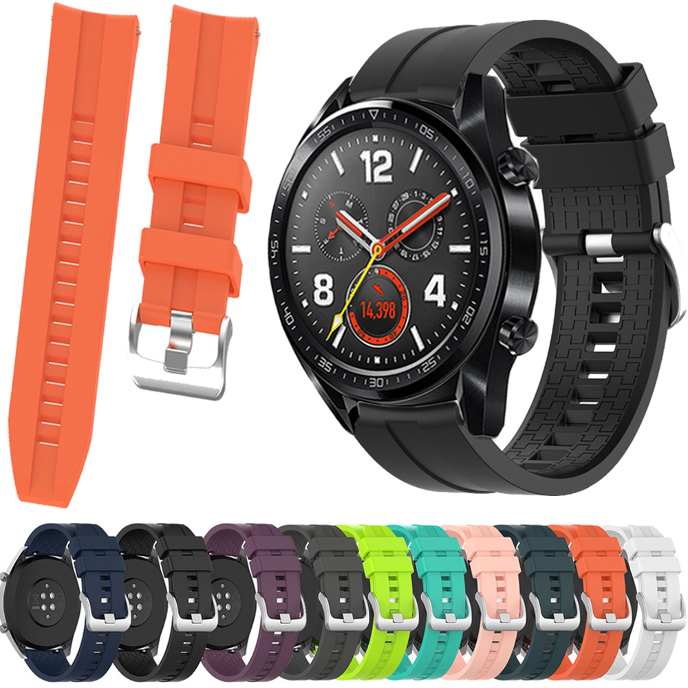 22mm Silicone Strap For HUAWEI WATCH GT 2/GT Active/HONOR Magic Band Smart Watch Bracelet Wristband Sport Replacement Correa