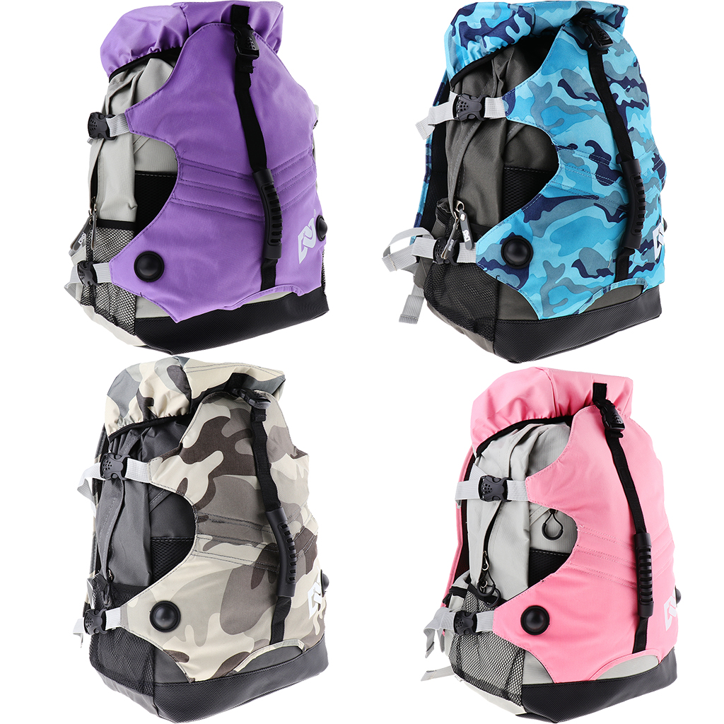 Professional Roller Skates Backpack Inline Skates Skating Shoes Boots Carry Bag Durable Multi-pocket Sports Rucksack Unisex