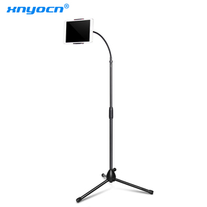 Напольная подставка XNYOCN с регулируемым штативом, гибкий держатель для планшета, музыкальная стойка, крепление для планшетов, держатель для ...