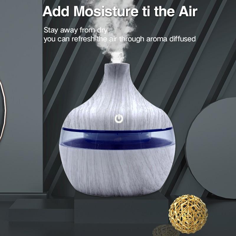 Деревянный мини-увлажнитель воздуха для дома, Электрический Ароматерапевтический диффузор, вапорайзер, диффузор, Ароматический диффузор
