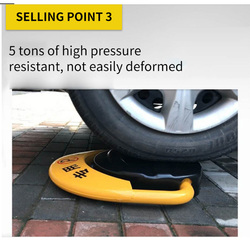 GALO factory cheap high quality automatic remote control double battery parking lock waterproof anti-pressure safety