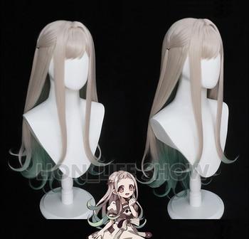 Anime Jibaku Shounen Hanako-kun Cosplay Wigs Nene Yashiro Long Straight Synthetic Hair Wig + Free Wig Cap цена 2017