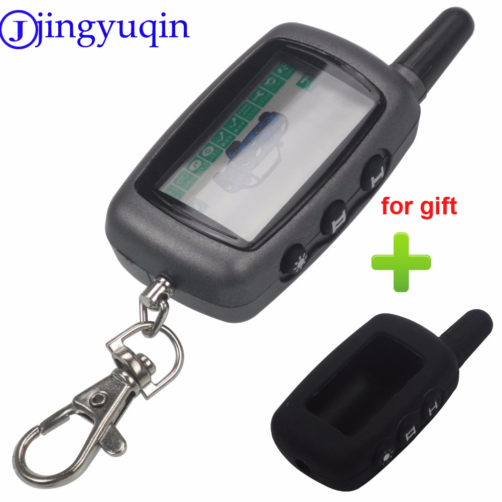 Bilchave <font><b>A9</b></font> LCD Remote Control Key Fob +Silicone key Case for Russian Vehicle Security Two Way Car Auto Alarm <font><b>StarLine</b></font> <font><b>A9</b></font> <font><b>Twage</b></font> image