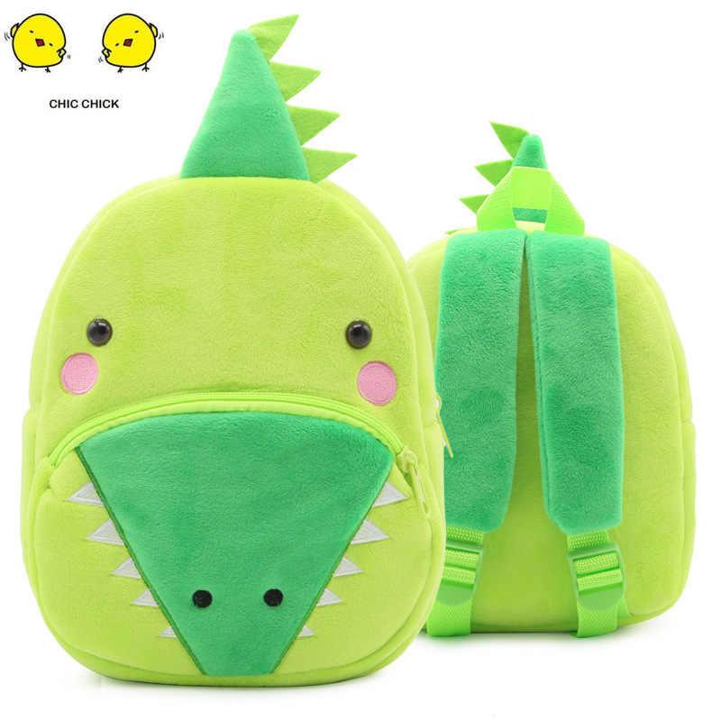 Bebê Mochila De Pelúcia Bonito Dos Desenhos Animados Crianças Bolsa de Bebê Mochila Mochila Meninos Meninas Bolsa de Crocodilo Brinquedos de Pelúcia Quente