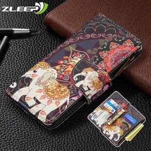 Кожаный чехол на молнии для Huawei P40 P30 Honor 9x9s Lite E Pro Y5 Y6 Y7 Y9 Prime 2019 P Smart 2020 Y7P Y6P Y5P, чехол-бумажник