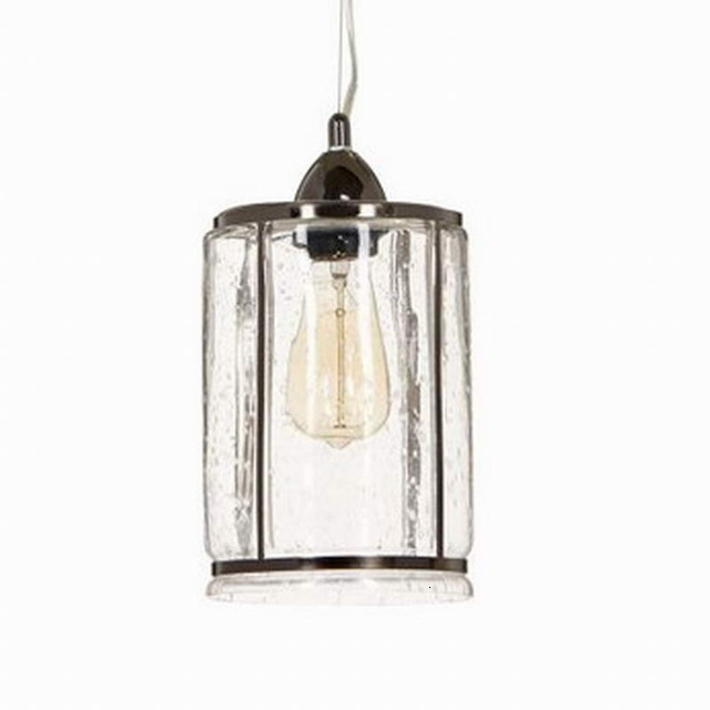 Industrial Lamp Outdoor Vintage Glass Chandelier Iron Pendant Light Kitchen Chandelier Luminaire Suspendu