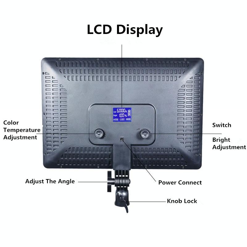 H0b47f974598347478e4bb8b6b8d3a91c3 14inch 10inch LED Video Lighting Panel EU Plug 3200K-6000K Photography Lighting Remote Control For Live Stream Photo Studio Lamp