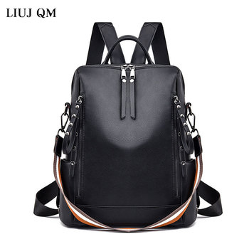 2020 New Women Backpack Designer high quality Leather Women Bag Fashion School Bags Large Capacity waterproof Travel Backpacks brand new women backpack large capacity computer bag fashion black bags high quality travel rucksack backpacks