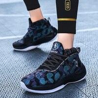 Marca de luxo tênis de basquete masculino anti deslizamento dos homens sapatilha confortável sapatos esportivos dos homens de alta parte superior sapato de basquete