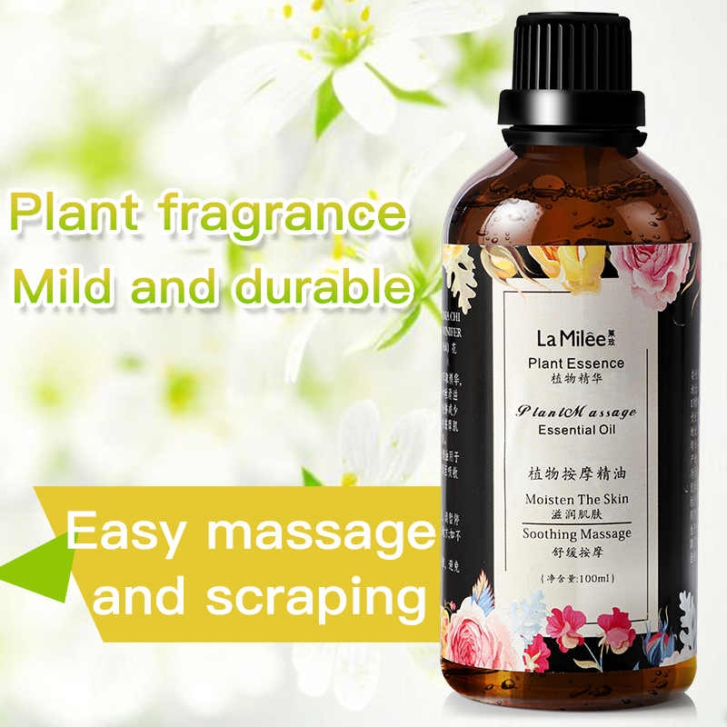 100ml Massage Essential Oils Fragrance Oil For Aromatherapy Pure Organic Body Relax Skin Care Help Sleep Scraping Therapy