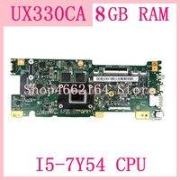 Ux330ca placa-mãe com I5-7Y54 cpu 8gb placa-mãe de memória para asus ux330c ux330ca ux330cak computador portátil mainboard ux330ca