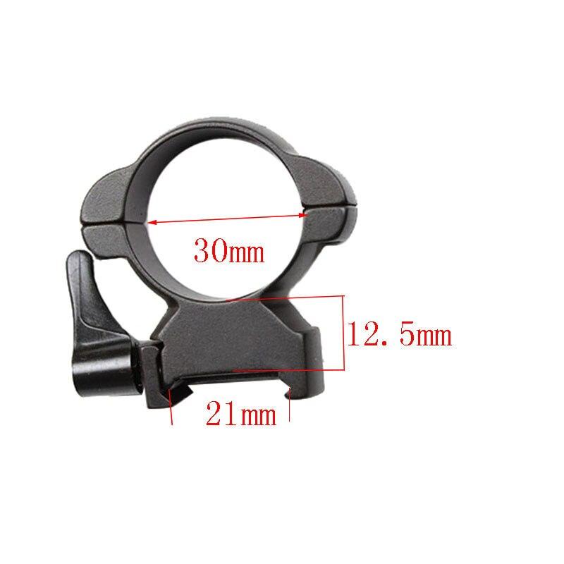 Винтовочное стальное виверное крепление 30 мм, высокопрофильное черное рычажное кольцо Lok Top mount