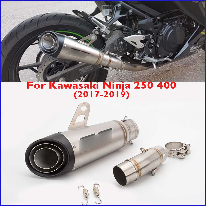 Slip On Ninja 400 2017-2018 Exhaust Tip Pipe Connecting Middle Tube For Kawasaki