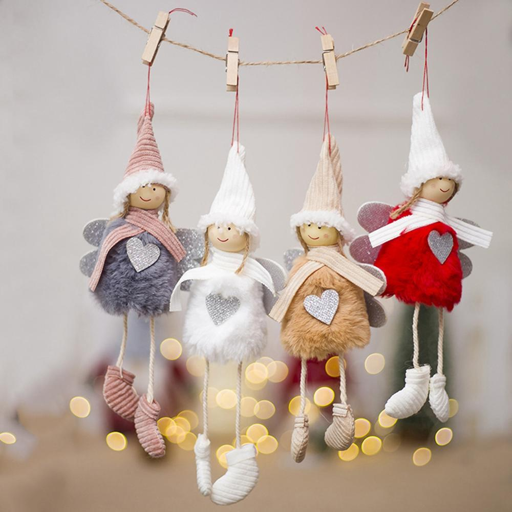 PATIMATE Christmas Angel Doll Tree Decoration Decorations For Home Merry 2019 Gift New Year 2020