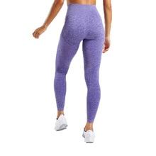 Women Blue Seamless Leggings Tummy Control Yoga Leggings High Waist Booty Leggings Sport Fitness Gym Leggings Athletic Tights