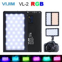 VIJIM VL 2 RGB LED Video Light 2500 K 8500 K หรี่แสงได้การถ่ายภาพแสงสำหรับ Sony Nikon กล้อง DSLR