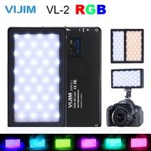 VIJIM VL 2 RGB LED Video Light 2500K 8500K Dimmable Lamp Photography Lighting for Sony Nikon DSLR Cameras