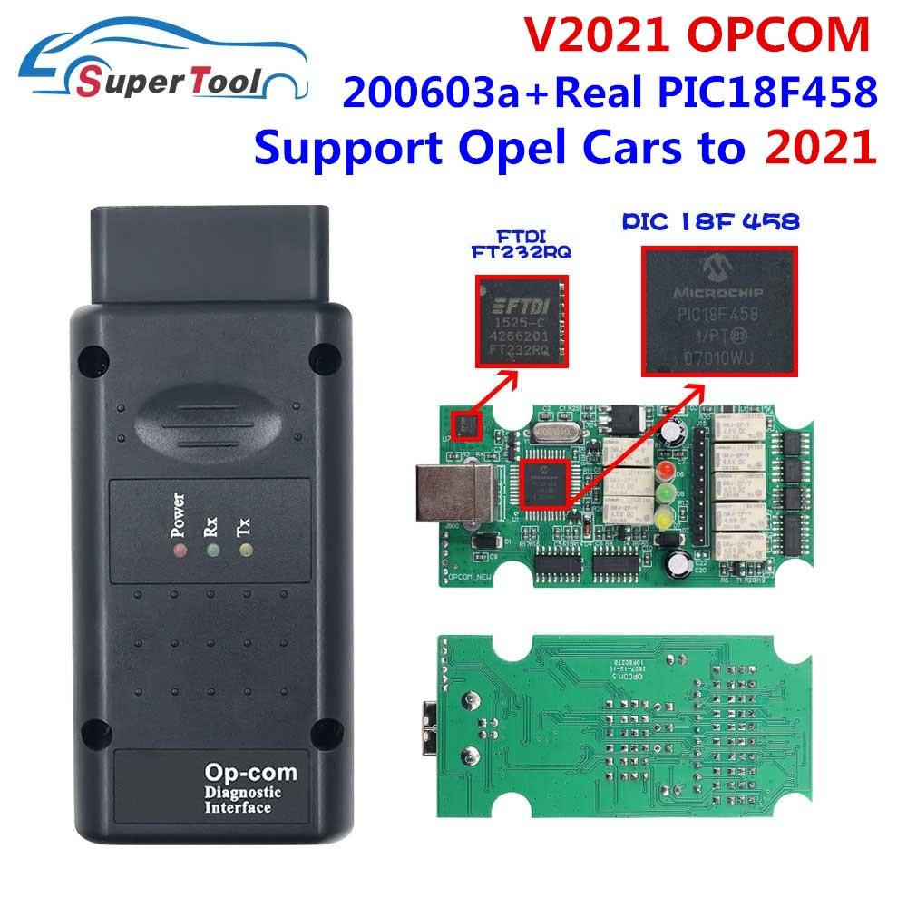 Новинка, Автомобильный сканер OP COM 2021 170823C для Opel CAN BUS OPCOM 1,70 Flash, обновление прошивки, настоящий PIC18F458 FTDI FT232RL чип OBD2
