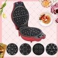 Вафельница, мульти-опционально, электрическая машинка для приготовления тортов, 230 В, антипригарные съемные тарелки, лотки для пончиков, кек...