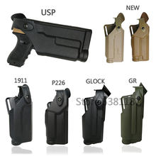 Tático airsoft belt gun coldre para glock 17 19 m9 1911 p226 usp cintura militar caça caso pistola de combate com lanterna