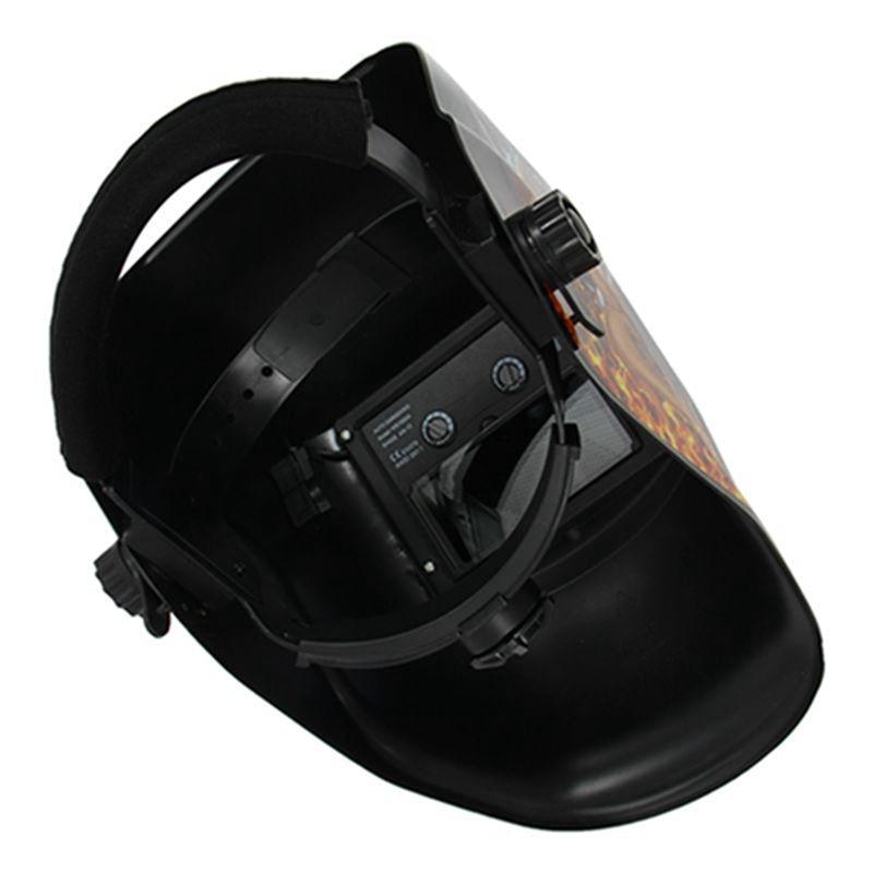 Tools : Welding Helmet Solar Auto Darkening MIG TIG ARC Welder Mask Flame And Girl GS8D