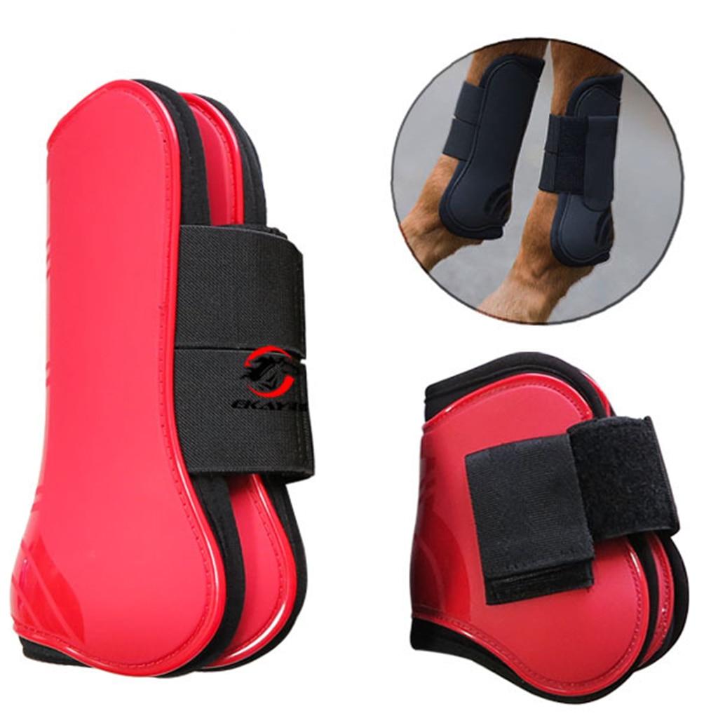 Brushing Boot Horse Stable Neoprene Travel Boots Leg Protection Wrap, Set Of 4