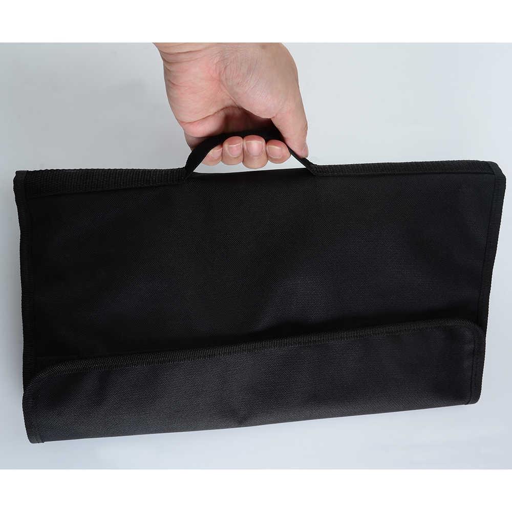 XYj kuchnia gotowanie Chef nóż torba torba rollbag futerał do przenoszenia torba kuchnia gotowanie przenośne trwałe przechowywanie 12 kieszenie czarne kolory narzędzie