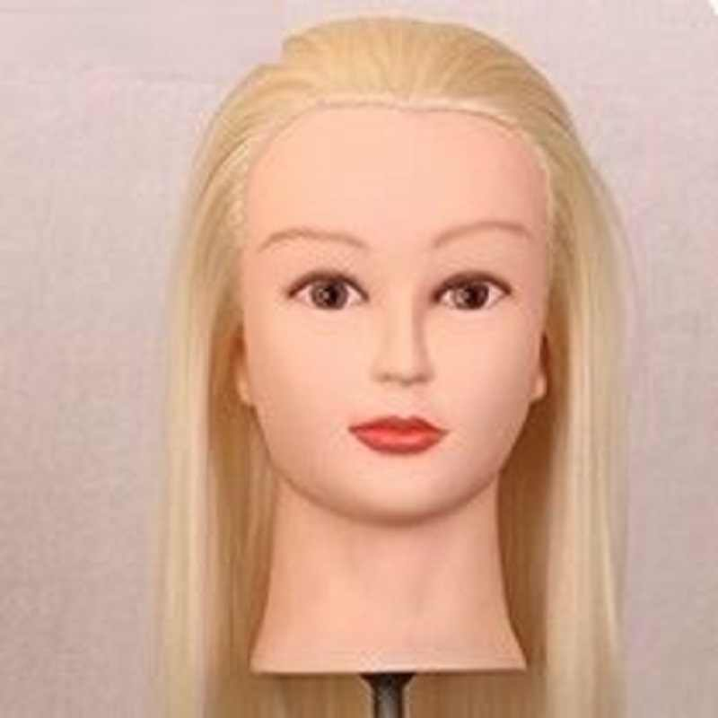"""20 """"длинные золотые волосы манекен голова для париков с подставкой Женский манекен голова прически косметологическая подставка для парика"""