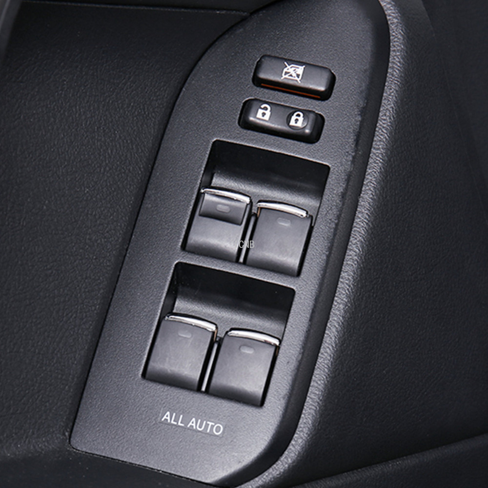 ABS Window Lift Switch Button Sequin Trim For Toyota Camry Prado 2018 7PCS US