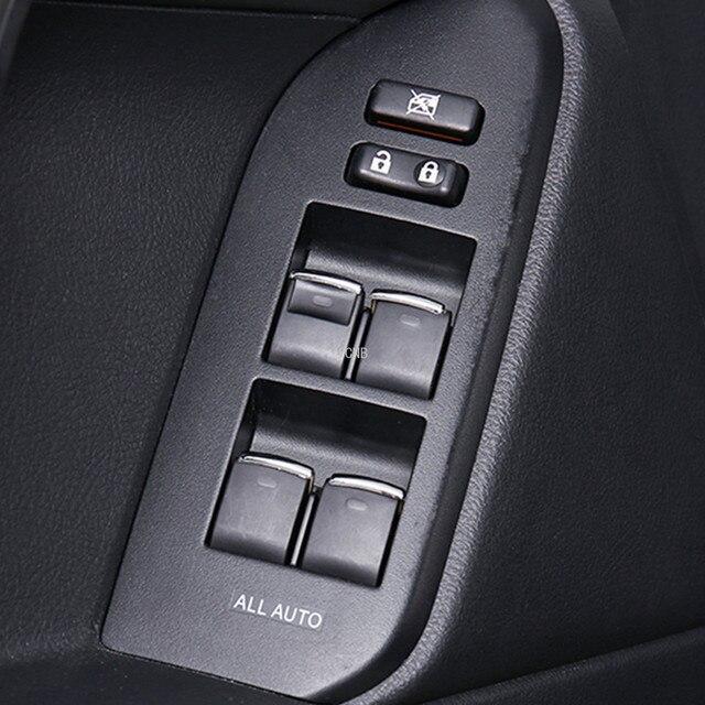 Glass Lifting Switch Sequins for Toyota Land Cruiser Prado FJ150 FJ200 Corolla RAV 4 Camry Accessories 7PCS/set