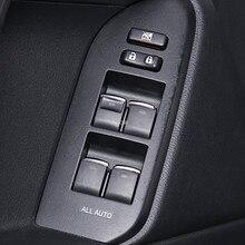 Interruptor de elevación de vidrio lentejuelas para Toyota Land Cruiser Prado FJ150 FJ200 Corolla RAV 4 Camry accesorios 7 unids/set