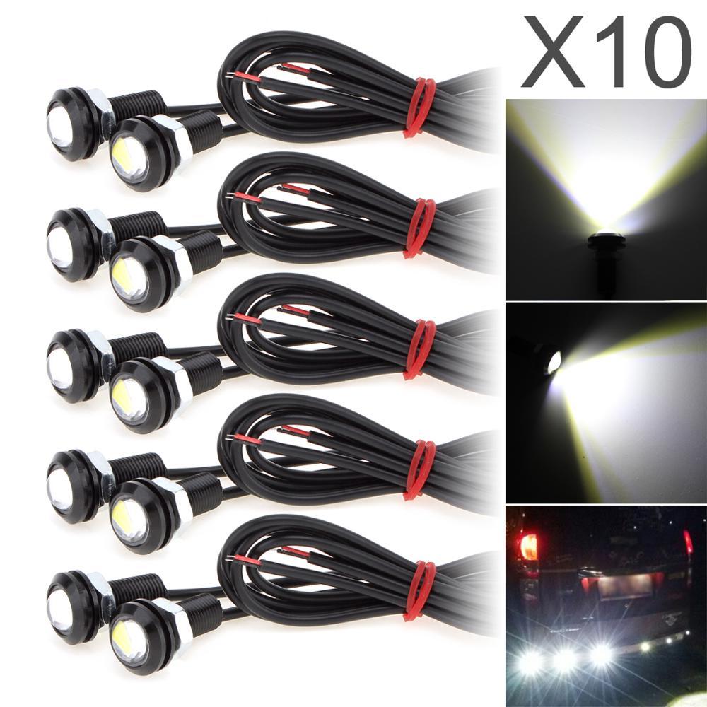 10pcs/lot 9W 18MM White 5730 LED Eagle Eye Auto Car Fog Light DRL Bulb Turn Signal Reverse Backup Corner Stop Parking Tail Lamp