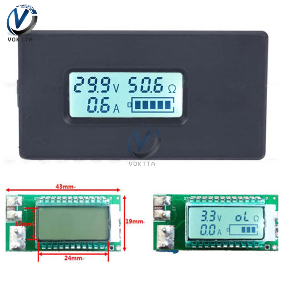 18650 Lithium Battery Capacity Indicator Tester Lcd Digital Display Led Tester 2.8-30v Power Supply Monitor With Shell Case