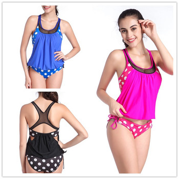 Burst the new wave of Europe and the United States classic wave bikini swimsuit pregnant women fat MM swimsuit europe and the united states foreign trade new women s split color matching backless sexy bikini print swimsuit