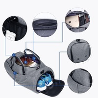 Multifunctional Men Travel Bag Large Shoulder Bag Waterproof Business Duffle Bag Garment Bag Hand Luggage Bags with Shoe Pouch