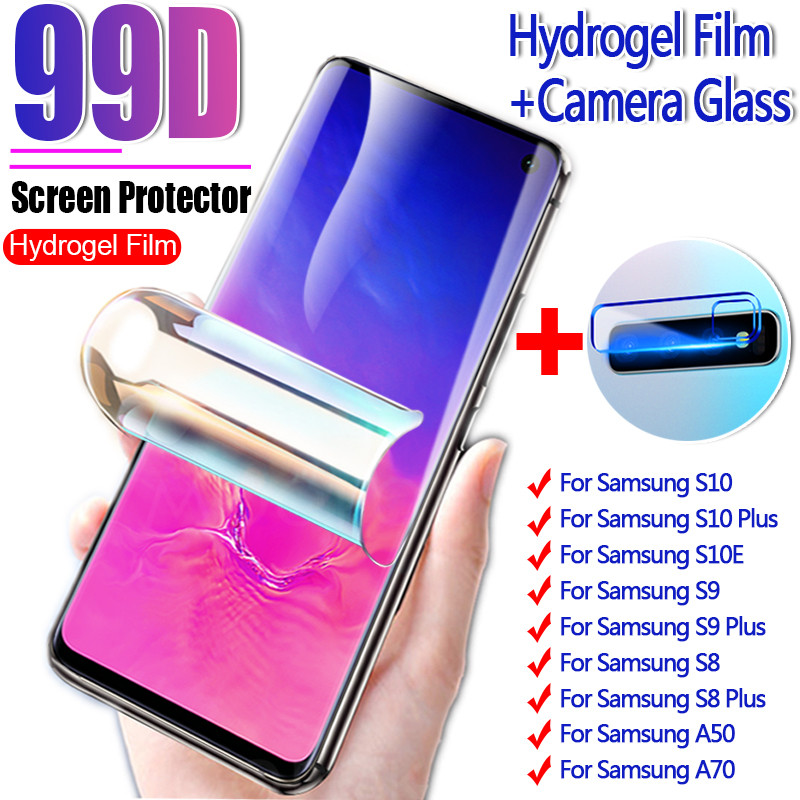 2-1Pcs 99D Screen Protector For Samsung Galaxy S10 S9 S8 Note 8 9 10 Plus Hydrogel Film For Samsung S10E A50 A70 Film Not Glass