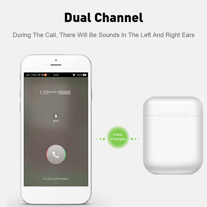 i11 <font><b>TWS</b></font> Wireless Headphones Bluetooth 5.0 Earphones Headset Fingerprint Touch <font><b>Pop</b></font>-<font><b>up</b></font> Window Earbuds With Mic For iPhone Android image